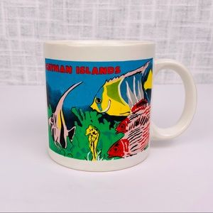 Vintage Cayman Islands tropical fish coffee mug